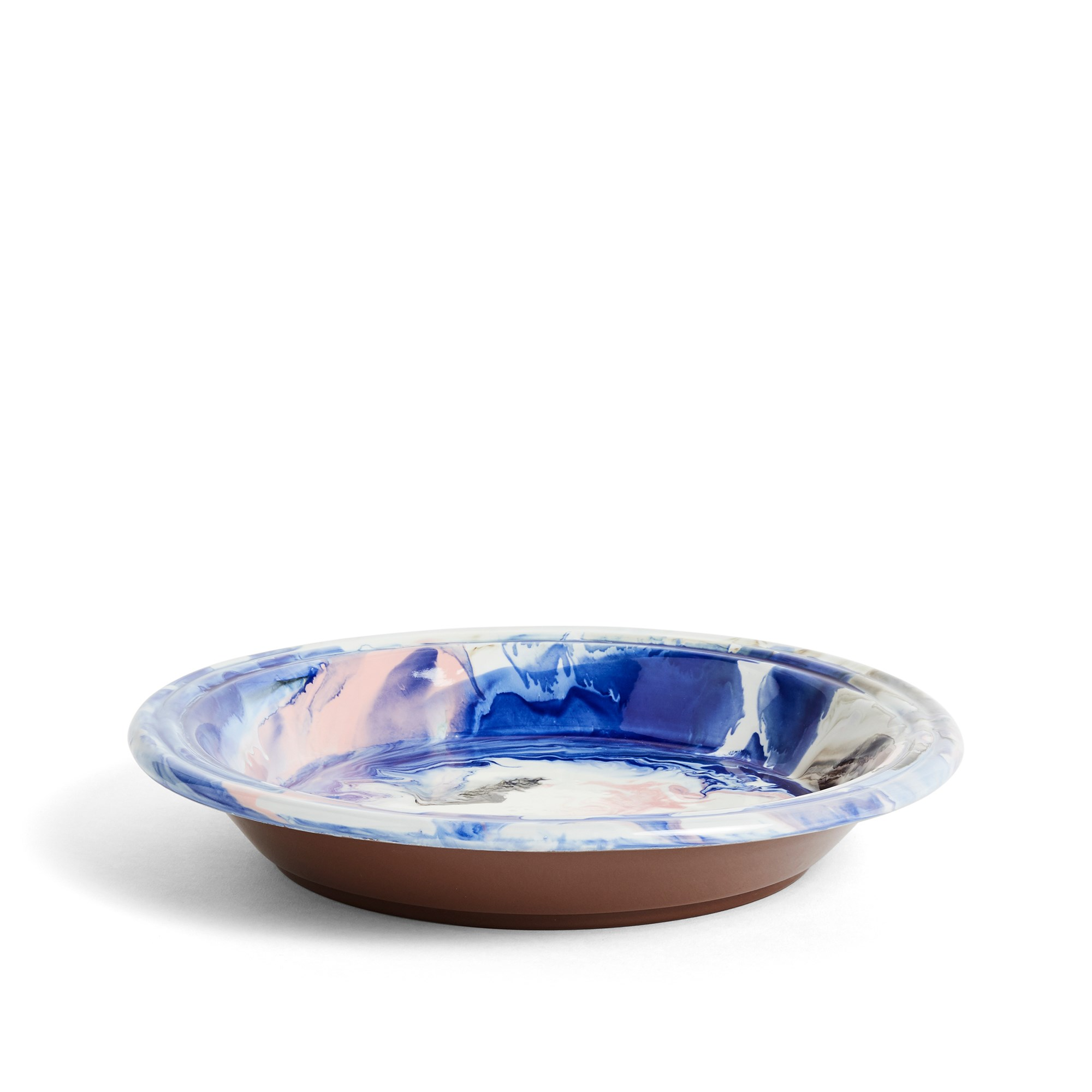 Blue and Pink Swirl Bowl